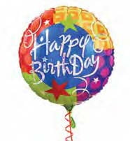 Mylar Balloon - Happy Birthday